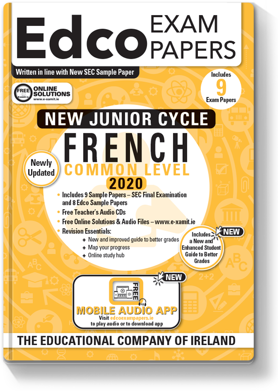 JC French Common Level Exam Papers 2020