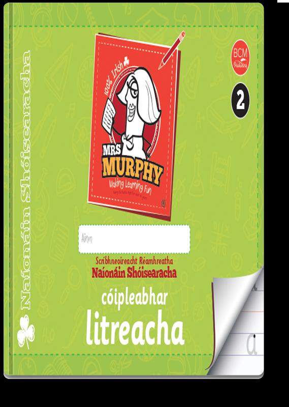 Mrs Murphy's Naíonáin Shóisearacha Cóipleabhar Litreacha 2021